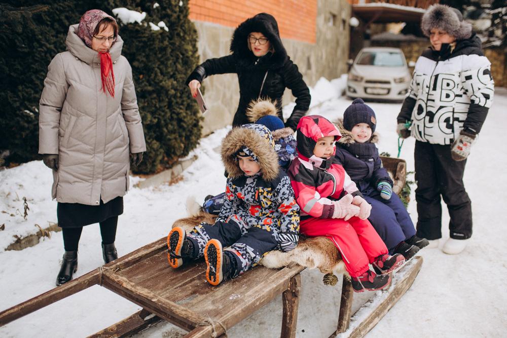 Мостик детски сад: зима 2021, Олени
